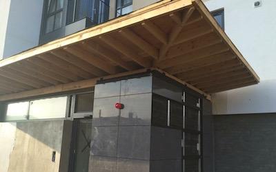 Cladding & Flashings to Apartment Entrance (5)