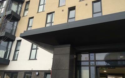 Cladding & Flashings to Apartment Entrance (1)
