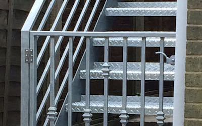 Emergency Exit Mild Steel Staircase with Galvanised Finish (1)